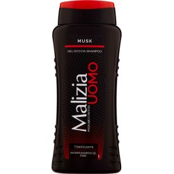 Malizia Uomo Musk Gel Doccia Shampoo 250 mL.
