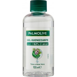 Palmolive gel igienizzante per le mani Timo e Aloe Vera, con il 62% di alcol, 100 ml.