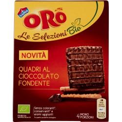 Oro Saiwa Le Selezioni Bio Quadri al Cioccolato Fondente 120 gr.