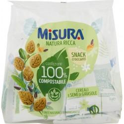 Misura Natura Ricca Snack croccanti Cereali e Semi di Girasole 7 x 32 gr.