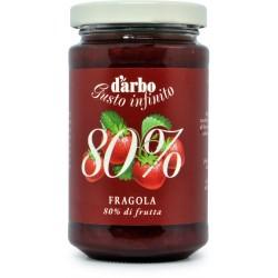 D'Arbo crema alle fragole 80% gr.250