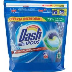 Dash PODS Allin1 Detersivo Lavatrice in Monodosi + Smacchiatore integrato 44 Lavaggi