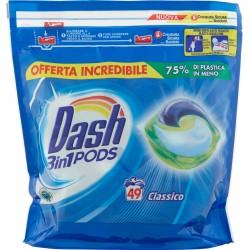 Dash PODS 3in1 Detersivo Lavatrice in Monodosi Classico 49 Lavaggi