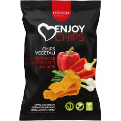Enjoy chips fritte peperoni/cipollotti gr.40