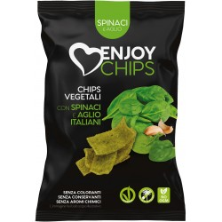 Enjoy chips fritte spinaci/aglio gr.40