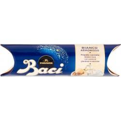 BACI PERUGINA BIANCO Cioccolatini ripieni al gianduia e nocciola intera tubo 37,5 gr.
