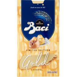 BACI PERUGINA GOLD LIMITED EDITION Cioccolatini ripieni al gianduia e nocciola intera scatola 150 gr.