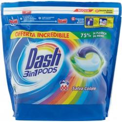 Dash PODS 3in1 Detersivo Lavatrice in Monodosi Salva Colore 66 Lavaggi