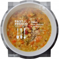 Fast Fresco zuppa di legumi cereali gr.620