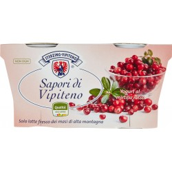 Sterzing Vipiteno Sapori di Vipiteno Yogurt al mirtillo rosso 2 x 125 gr.