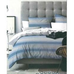 Completo letto singolo righe blu