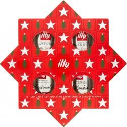 illy stella di Natale Tostato Classico+Tostato Intenso+Arabica Selection Colombia+Arabica Selection Guatemala 4x125 g