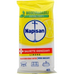 Napisan Salviette Igienizzanti Limone Biodegradabili 40 pz.