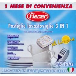 Flacer detersivo lavastoviglie 3in1 x25 tabs