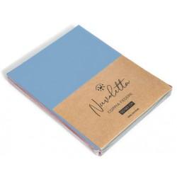 Coppia federe nuvoletta. 2x 52x82+18 cm, Composizione: 100% cotone colore azzurro 9