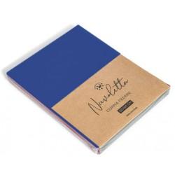 Coppia federe nuvoletta. 2x 52x82+18 cm, Composizione: 100% cotone blu royal 8