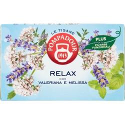 Pompadour Le Tisane Relax Plus con Valeriana e Melissa 18 x 2,2 g