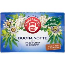 Pompadour Le Tisane Buona Notte con Passiflora e Canapa* 18 x 2,2 g