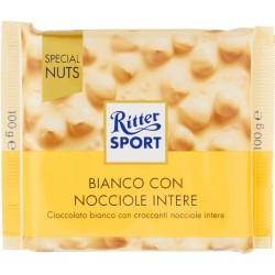 Ritter Sport Bianco con Nocciole Intere 100 gr.