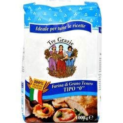 Le tre grazie farina grano di tenero 0 kg.1