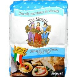 Le tre grazie farina di grano tenero 00 kg.5