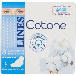 Lines Cotone Ultra Notte x8