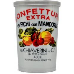 Chiaverini confettura extra di fichi con mandorle gr.400