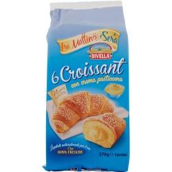 Divella fra Mattino e Sera 6 Croissant con crema pasticcera 270 gr.