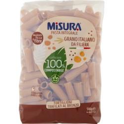 Misura Pasta Integrale Tortiglioni Trafilati al Bronzo gr.500