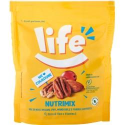 Life Nutrimix Mix di Noci di Pecan, Uva, Mandorle e Farro Soffiato 90 gr.