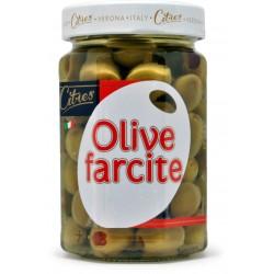 Citres olive verdi farcite con pasta di peperoni in olio gr.290