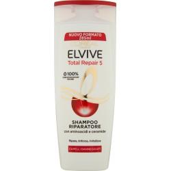 L'Oréal Paris Shampoo Elvive Total Repair 5, Per Capelli Danneggiati, 285 ml.