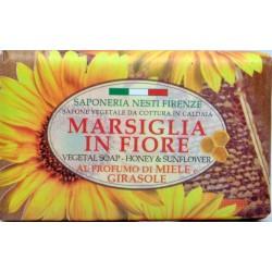 Nesti sapone marsiglia in fiore al profumo di miele e girasole gr.125