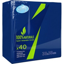 Soft Soft tovaglioli blu scuro 38x38cm pz.40