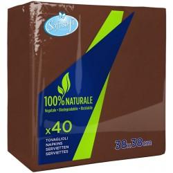 Soft Soft tovaglioli cacao 38x38cm pz.40