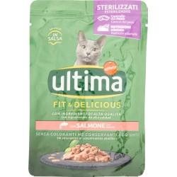 Ultima Cat Sterilizzati Fit & Delicious con Salmone in Salsa 85 g