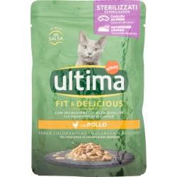 ultima Cat Sterilizzati Fit & Delicious con Pollo in Salsa 85 g