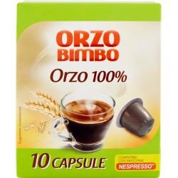 Orzo Bimbo Orzo 100% 10 Capsule Compatibili con Macchine Nespresso* 27 gr.