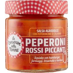 Le Conserve della Nonna salsa agrodolce con Peperoni Rossi Piccanti 200 gr.