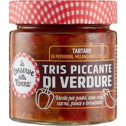 Le Conserve della Nonna crema tartare Tris Piccante di Verdure 200 gr.