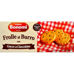 Bonomi frolle al burro con gocce di cioccolato gr.150