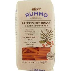 Rummo Lenticchie Rosse e Riso Integrale Pennette Rigate N° 70 300 gr.
