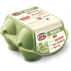 Aia Biovita 4 Uova Fresche da Allevamento Biologico 220 gr.
