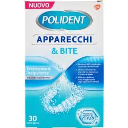 Polident Apparecchi & Bite Freschezza & Trasparenza Pulitore Quotidiano Compresse 30 pz