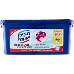 Lysoform Detersivo Lavatrice Igienizzante 32 capsule