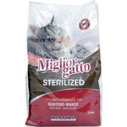 Migliorgatto sterilized manzo kg.1,5