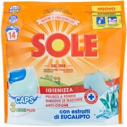 Sole Igiene e Freschezza Igienizza con estratti di Eucalipto Caps 3 Azioni Plus 14 x 20 gr