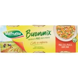 Valfrutta Buonmix Mais, Ceci, Piselli, Carote, Rapa 3 x 140 gr.
