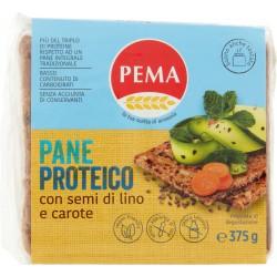Pema Pane Proteico con semi di lino e carote 375 gr.