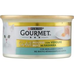 PURINA GOURMET Gold Gatto Mousse con Merluzzo e carote lattina 85 gr.